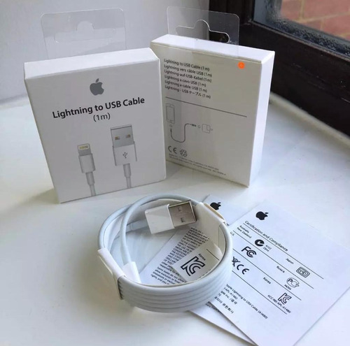 iphone 7,6,6s,5g,8,x . cable de datos usb 100% original