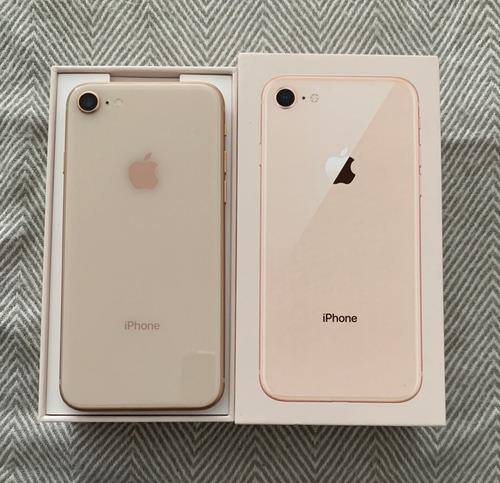 iphone 8 256 dourado novo com  nf