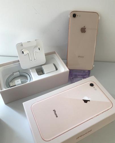 iphone 8 256g dourado 4.7  - novo - garantia e nf