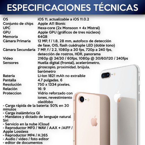 iphone 8 64 gb nuevos sellados factura oficial - black dog