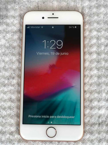iphone 8 - 64gb, rosado, libre todo operador, factura y case