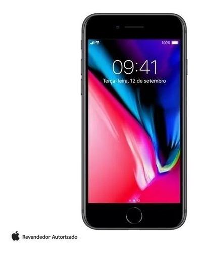 iphone 8 cinza espacial 4,7 , 4g, 64gb, 12 mp - mq6g2br/a