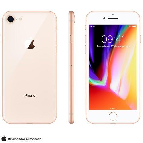 iphone 8 ouro 4,7 , 4g, 64 gb, 12 mp - mq6j2br/a