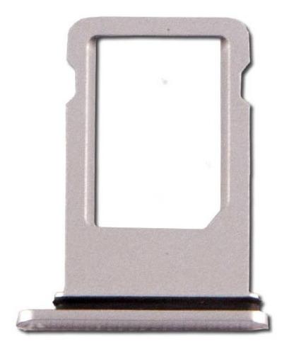 iphone 8 plus bandeja porta sim plateado charola chip