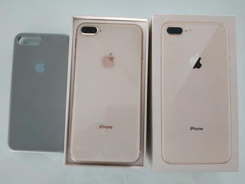 iphone 8 plus de 64 gb rosa  como nuevo