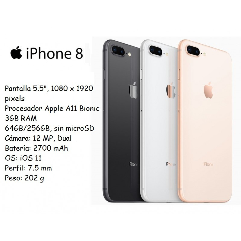 size 40 cc244 62208 iPhone 8 Plus Eq. Exhibicion 64gb+3gb