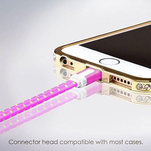 iphone cargador - extra largo fuerte, rayo cable - 6...
