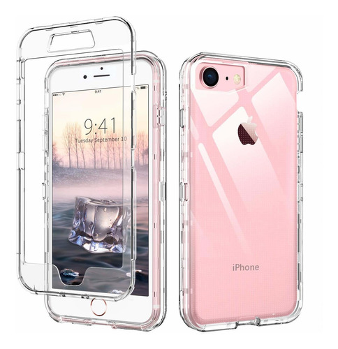 iphone case claro 8 clear case de iphone 7 a prueba de golpe