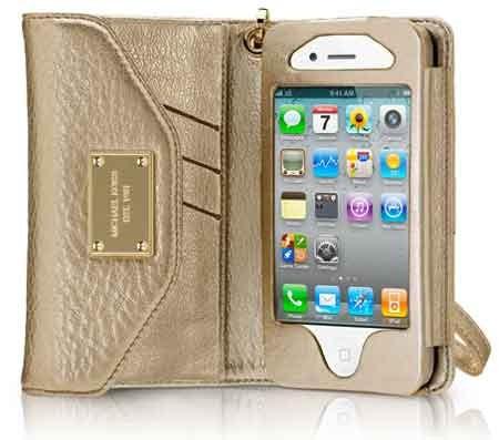 abdd0efbcd Capa Case Carteira Couro Mk Iphone 4 E 4s Celular Michael Ko - R  30 ...