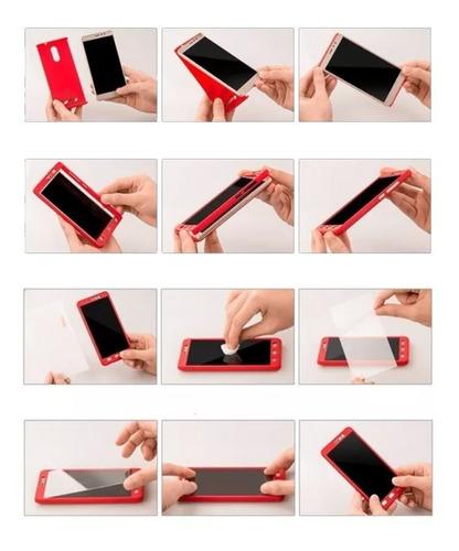 iphone forro 360 + vidrio templado 5s/se 6/6s 7 8 plus x/xs