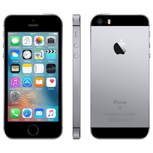 iphone se 16gb 4g preto semi novo com garantia e nf