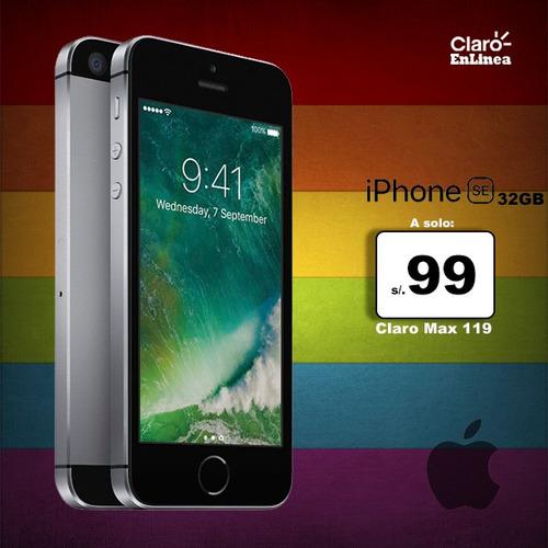 iphone se 32gb  plan claro max 119 portabilidad