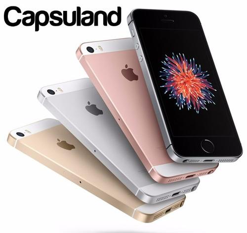 iphone se 64gb silver libre caja garantia belgrano + vidrio!