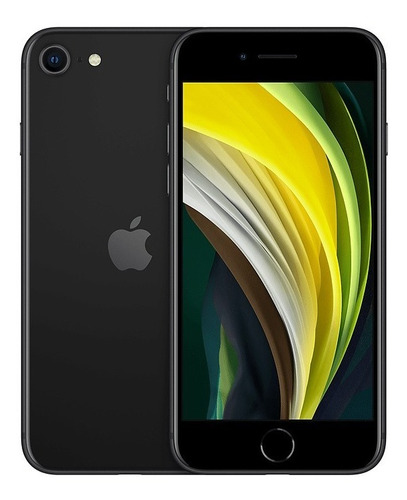 iphone se apple 64gb preto 4g tela 4,7 retina - câm. 12mp