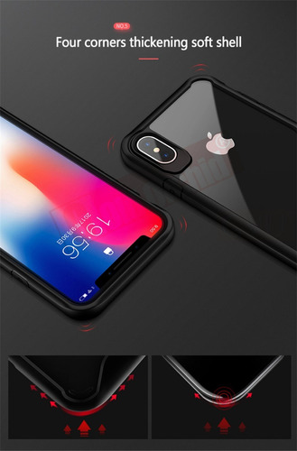 iphone x 10 case en goma 360