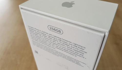 iphone x  256 gb (negro/silver)  garantia 4 tiendas