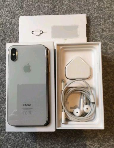 iphone x 256gb plateado libre con factura y garantia