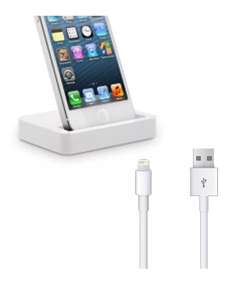 9cf40f498d4 iphone x 8 7 6 5 base dock cargador escritorio con cable usb. Cargando zoom.