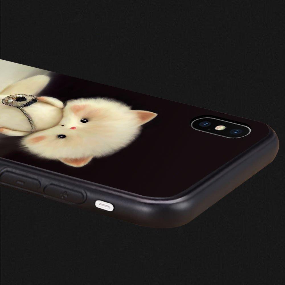 iPhone X Funda iPhone 10 Funda-plusme Cute Kawaii Soft Car