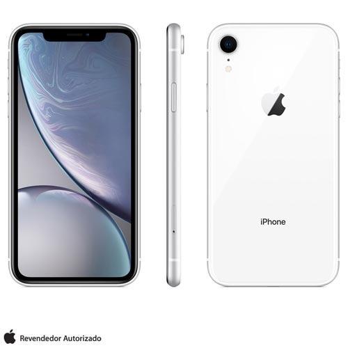 iphone xr branco, com tela 6,1 , 4g, 64gb 12mp - mry52bz/a