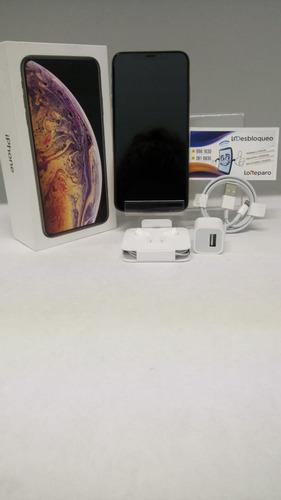 iphone xs max 512gb nuevo sellado at&t + mica de cristal