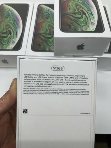 iphone xs max 512gb/sellado/liberado/garantia