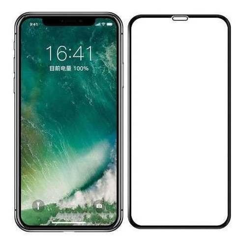 iphone xs max vidrio templado 5d curvo cubre hasta el borde