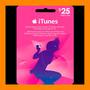 Itunes Apple Card $25 Para Ipod Iphone Tarjeta Prepago