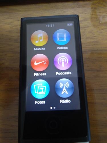ipod nano 16gb grey - 7a. ger. - necessário trocar bateria