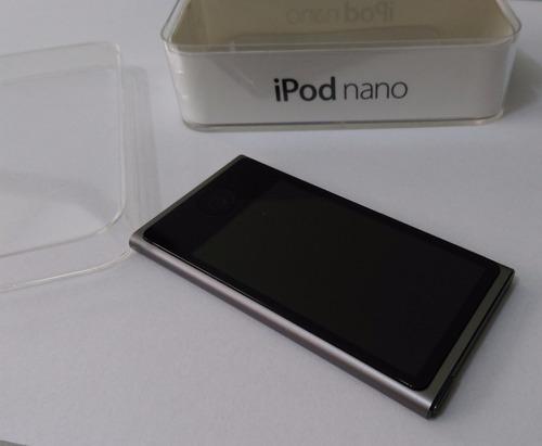 ipod nano 7 geração cinza 16gb rádio bluetooth caixa - usado