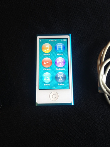 ipod nano 7ma generacion 16gb azul como nuevo apple touch