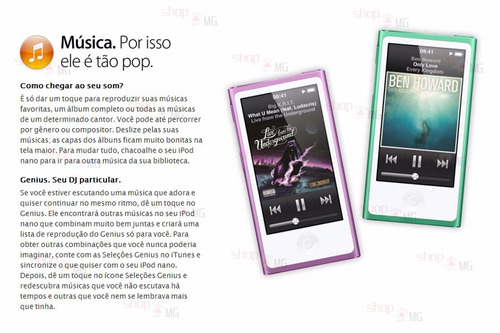 ipod nano 7th 16gb + frete grátis