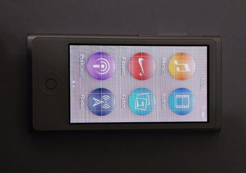 ipod nano 7th 16gb prata usado (defeito lcd) - leia - lf0gt