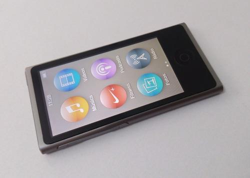 ipod nano cinza 16gb 7 geração rádio parcelado usado adfjq1