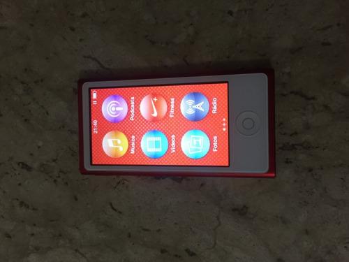 ipod nano série red 7 geração 16gb vermelho usado - funciona