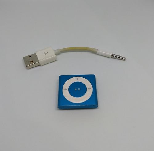 ipod shuffle azul 4 geração 2gb apple cabo - usado - rf4rw