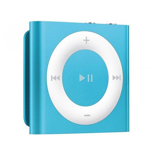 ipod shuffle com 2gb de memória e voice over apple azul