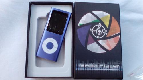 ipod shuffle / mp4 player 8gb + caixa + cabo usb + fone