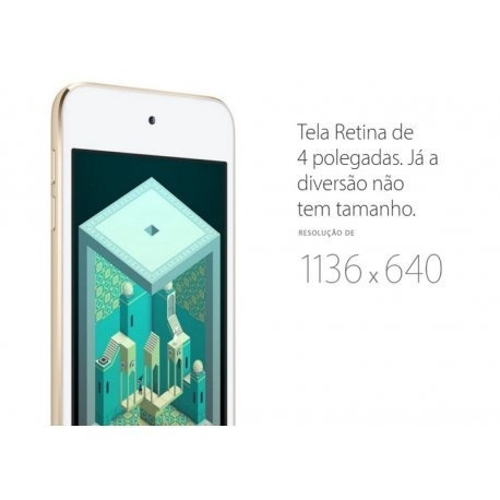 ipod touch 128gb tela ips 4.0  câmeras 8mp/1.2mp - mkwp2lz