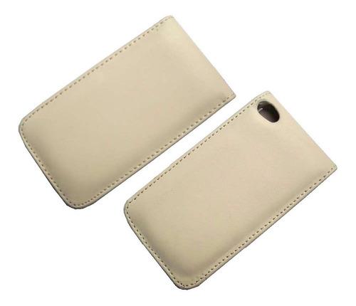 ipod touch 4 apple funda cuero flip estuche protector case