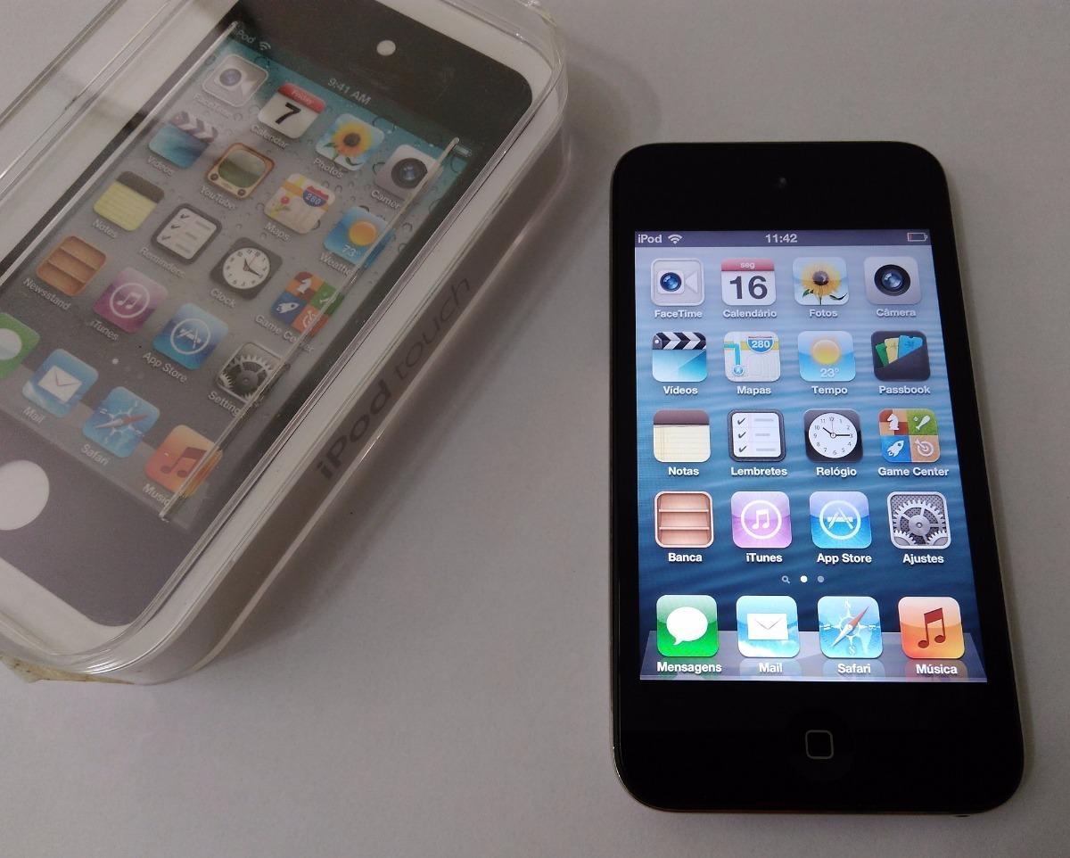 ipod touch 4 gera o 8gb preto caixa n o celular leia r 459 00 em mercado livre. Black Bedroom Furniture Sets. Home Design Ideas