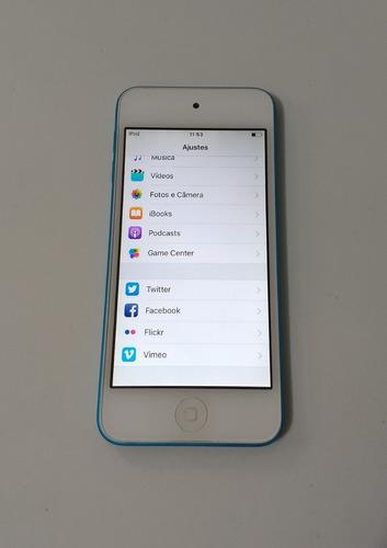 ipod touch 5 geração 16gb apple 5th azul parcelado - xg22t