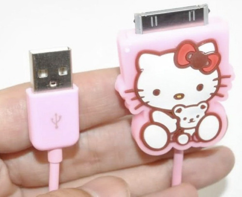 ipod/iphone/laptop apple hello kitty cable conector/usb dock