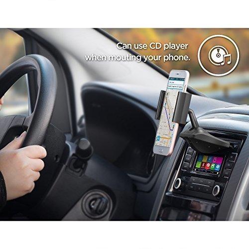 ipow universal ranura de cd smartphone cuna soporte de coche