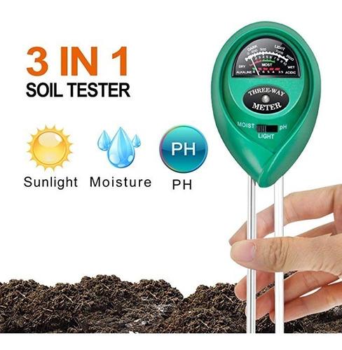 ipower tierra medidor ph kit prueba piso 3 en 1 la humedad l
