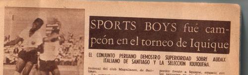 iquique v/s sport boys (peru) v/s audax italiano, r estadio