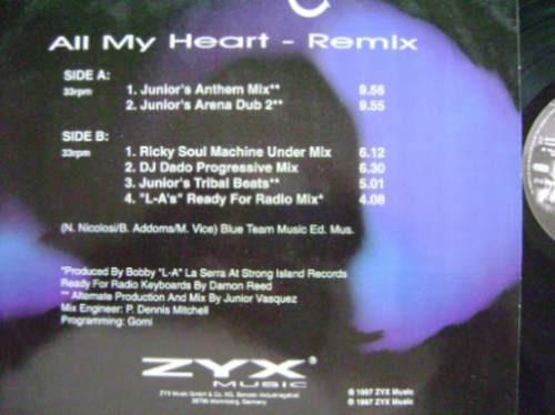 irene cara -  all my heart (remix) - 6 tracks --dj tiesto