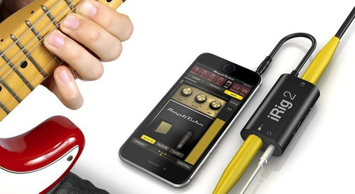 irig 2 guitar amplitube interface p/ iphone/ipad/ipod