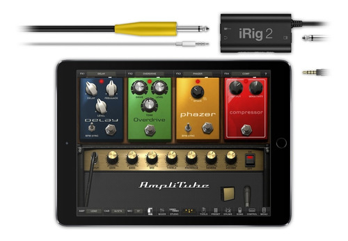 irig 2 interfaz guitarra bajo para iphone y android - oddity