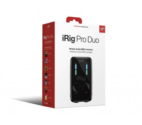 irig pro duo ik interface áudio som midi ios android pc mac